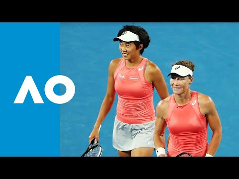 Great point from Stosur/Zhang vs. Strycova/Vondrousova AO SF (begins at 2:33)