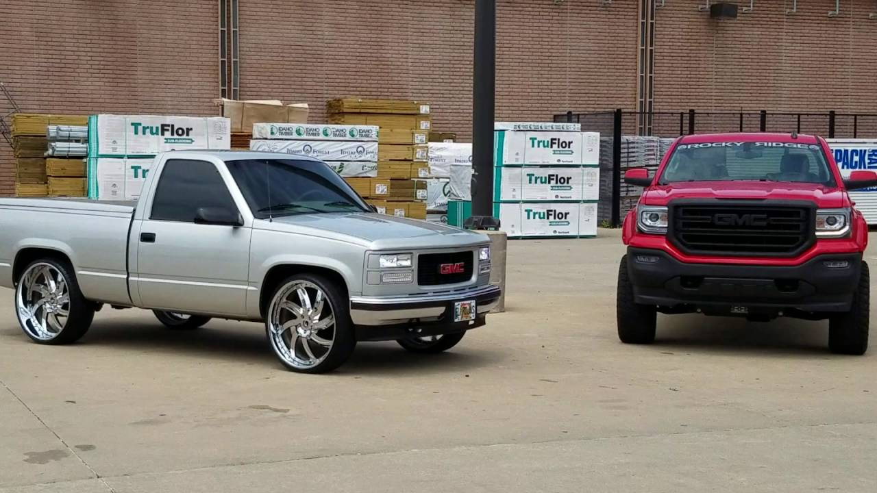Short bed 1995 and 2016 GMC Sierra at Arce Kreations - YouTube