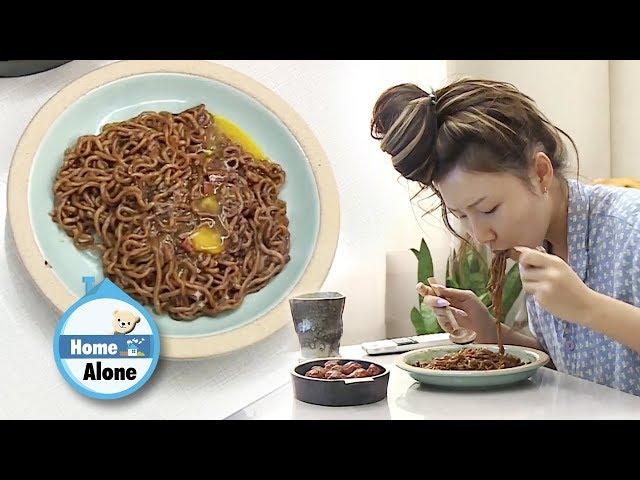 Hwasas Jjajang Ramyeon Mukbang [Home Alone Ep 282]