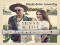 Jesse & Joy, Gente de Zona - 3 A.M. (Flauta dulce con notas)  ¡Completa!