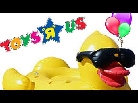 TOYS R US SCORE! Giant Inflatable Duck And Donut Pool Floats!