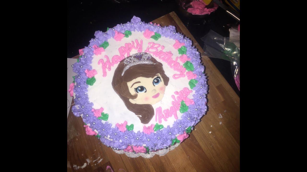 SOFIA THE FIRST CAKE YouTube