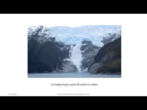Calving of Romanche Glacier on Beagle Channel  Jan132016