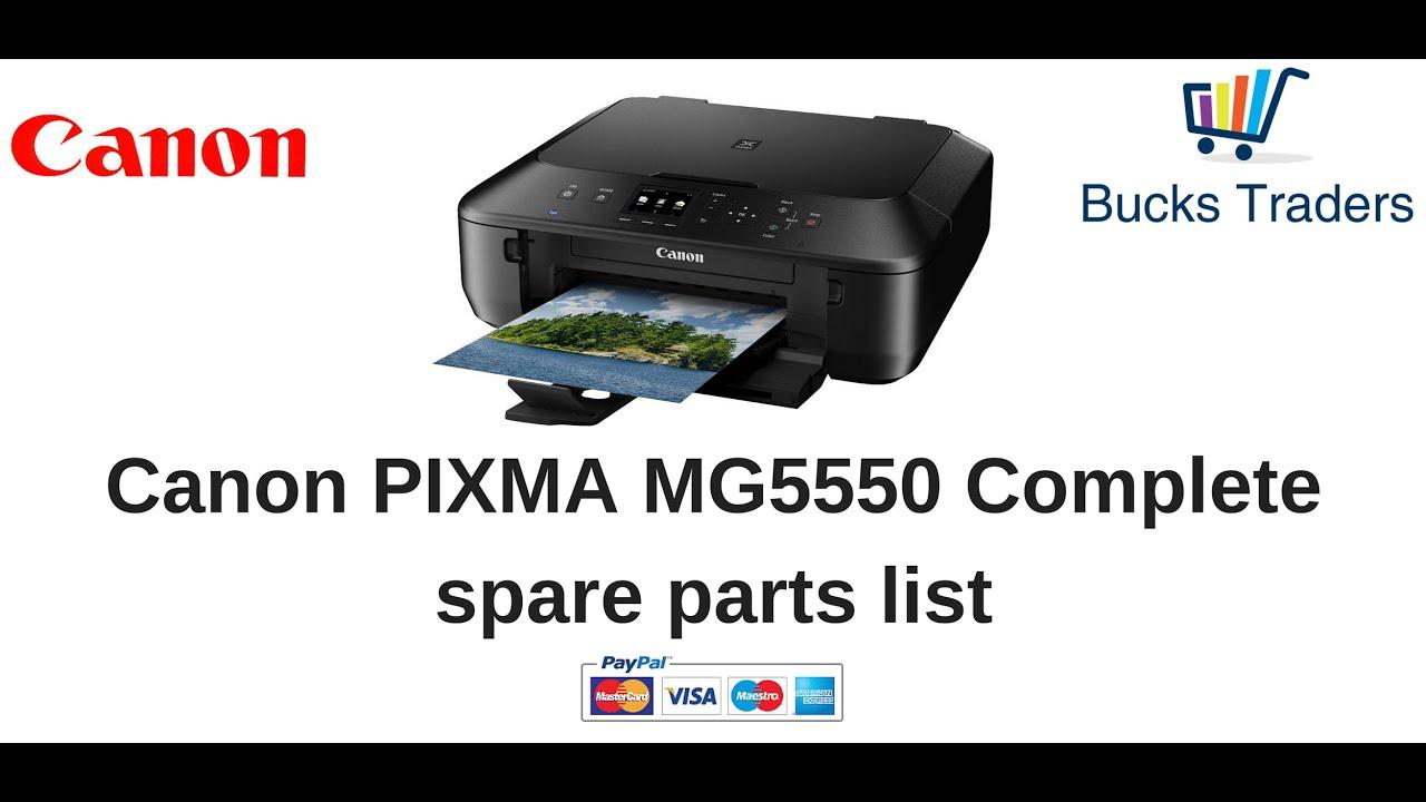 Genuine Oem Canon Pixma Mg5550 All In One Printer Parts Bucks