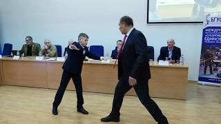 А. Половинкин младший  на конференции в Минске