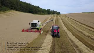 Lindores Abbey Distillery Barley Harvesting
