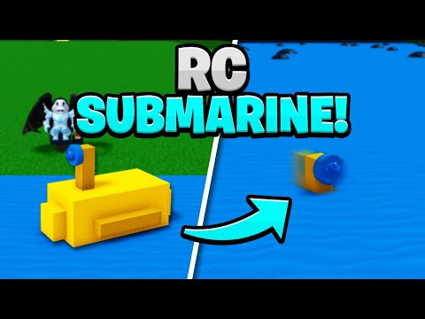 WORKING RC SUBMARINE!! - Build A Boat For Treasure!