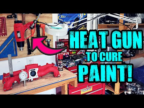 Use a Heat Gun to Cure Paint FAST