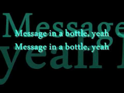 Sting And The Police - Message In A Bottle (lyrics)