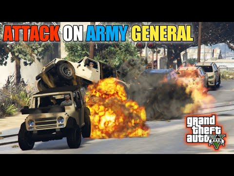 GTA 5 | Attack on Army General | Franklin Kidnapped Army General | Game Loverz |