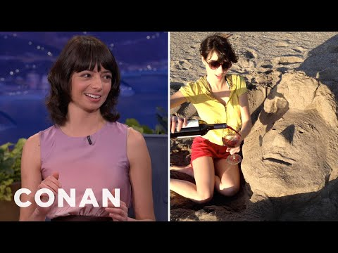 Kate Micucci's Romantic Beach Date With Conan O'Brien  CONAN on TBS