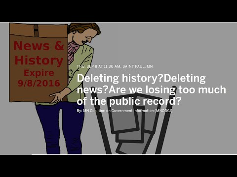 Vanishing Public Records In An Electronic Age -MNCOGI Forum