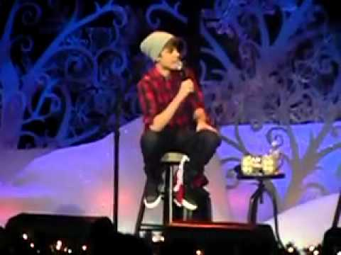 Justin Bieber Silent Night Live! & presenting $500K for Children Wish/School -Home For The Holiday's