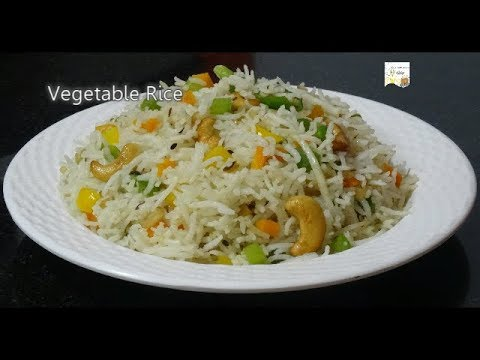 Vegetable Rice - Easy Lunch Box Recipe For Kids