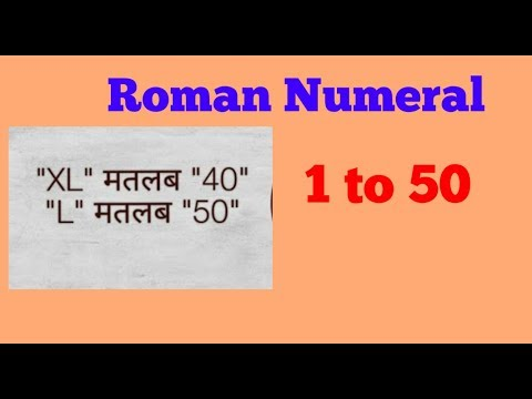 How to Write Roman Numerals. Roman Numbers from 1 to 50 for kids.