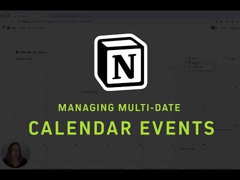 Managing multi-date calendar events in Notion