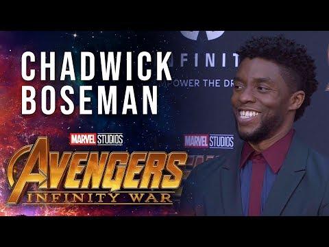 Chadwick Boseman Live at the Avengers: Infinity War Premiere