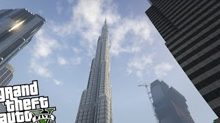 GTA 5 PC Map MOD - Burj Khalifa Building Mod! (Tallest Building in The World)