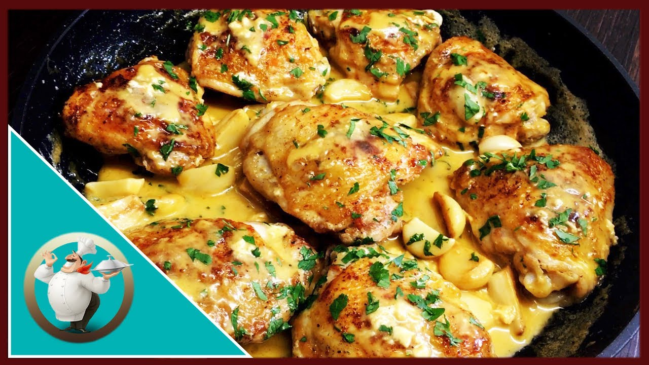 How To Make Creamy Garlic Chicken Chicken With Creamy Garlic Sauce Easy Chicken Recipe In 20 Min