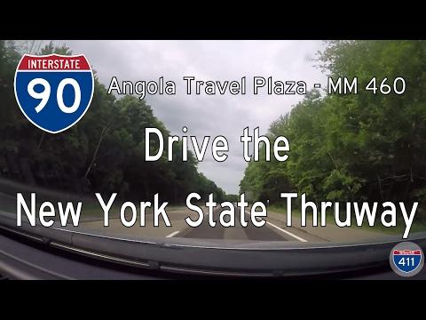 🚙 Let's Drive ... NY: I-90 - Angola Travel Plaza to MM 460