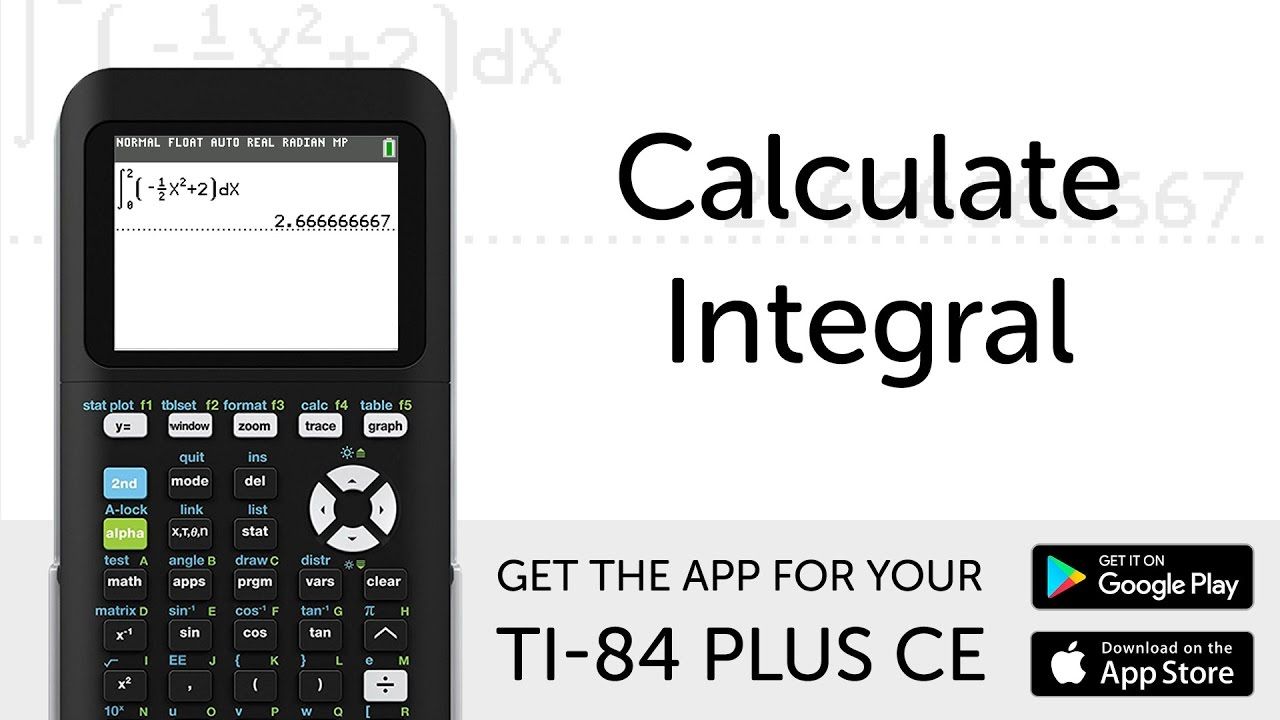 calculate integral manual for ti 84 plus ce graphing calculator rh youtube com ti 84 plus calculator owner's manual TI-84 Silver