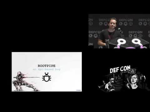 DEF CON 23 - Patrick Wardle - Stick That In Your root Pipe and Smoke It