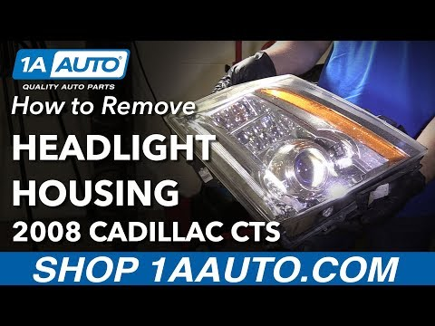 How to Remove Replace Headlight Housing 2008 Cadillac CTS