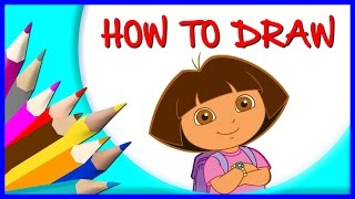 How to Draw Dora Cartoon Character from Dora and Friends