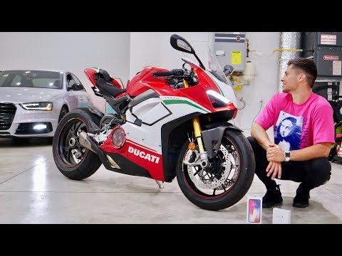 My New Ducati V4 Speciale! House Tour & iPhone X Giveaway!
