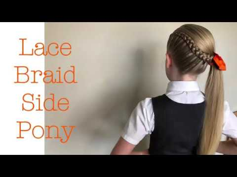 Lace Braid Side Pony tutorial by Two Little Girls Hairstyles thumbnail