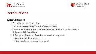 Enterprise Cyber Security Fundamentals - Webinar 1 of 4