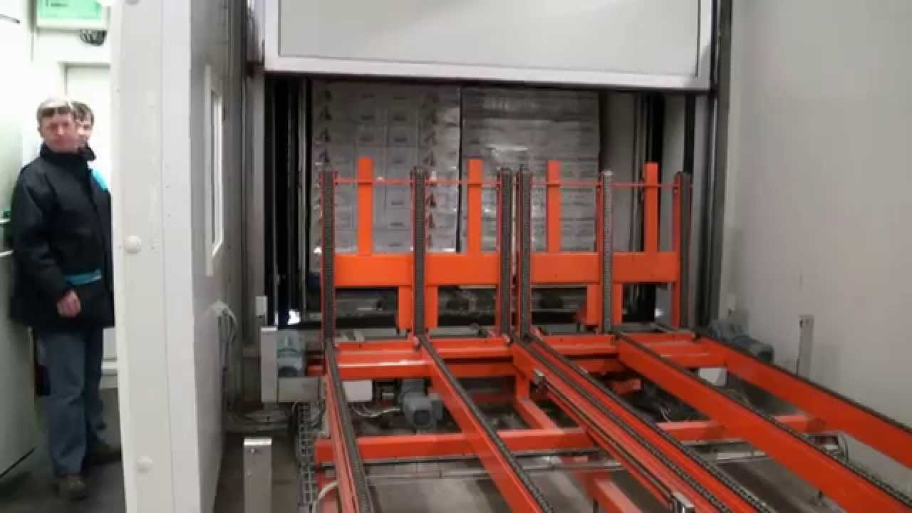 A-Service - Automatic truck loading unloading chain system in coldstore
