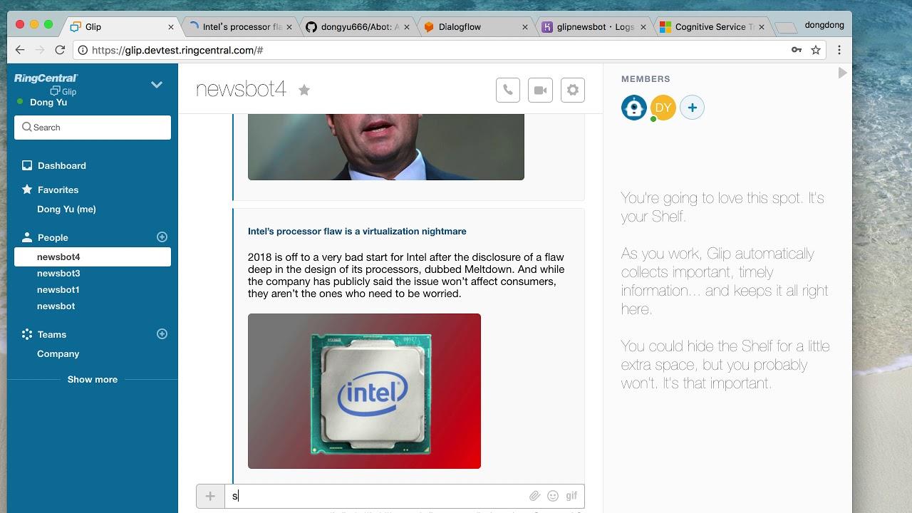 A Glip News bot with Dialogflow | Devpost