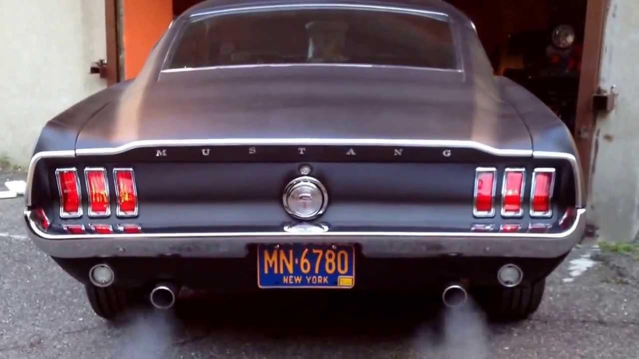 1968 mustang fastback matte black  YouTube