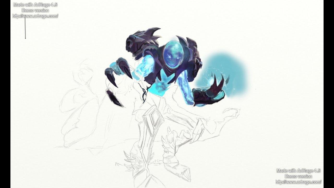 drawing arc warden part 2 coloring process dota 2 new hero wacom
