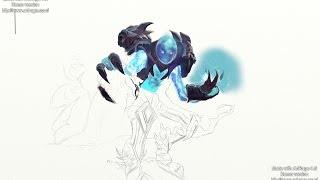 Drawing Arc Warden part 2 coloring process. Dota 2 new hero: wacom intuos