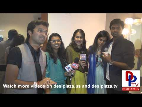 Super singers from Manisharma concert speaking to the media.