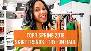 TOP 7 SPRING 2019 SKIRT TRENDS TRY ON HAUL Monroe Steele