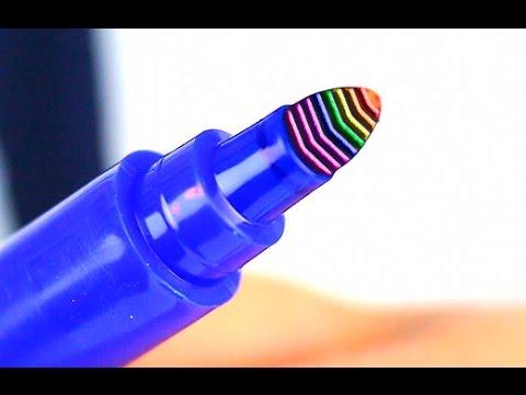 How to make a rainbow Felt-Tip Pen