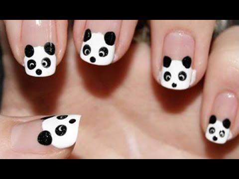 Nail Art For Beginners – Vẽ Móng tay Đẹp hình Gấu Trúc Panda