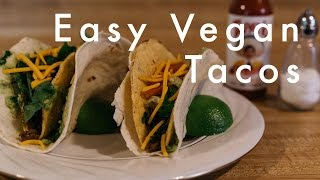 Easy Vegan Tacos from Hot For Food