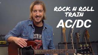 AC/DC - Rock N Roll Train Guitar Lesson Tutorial + SOLO