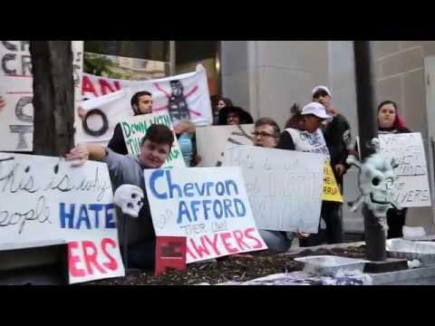 Protesting Canadian Bar Association & Chevron In Toronto