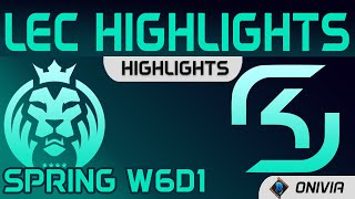 MAD vs SK Highlights LEC Spring Season 2021 W6D1 MAD Lions vs SK Gaming by Onivia