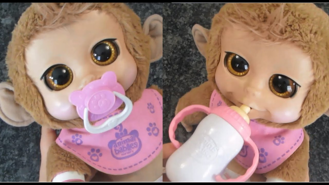 Animal Babies Nursery Baby Monkey Feeding Talking Laughing ... - photo#40
