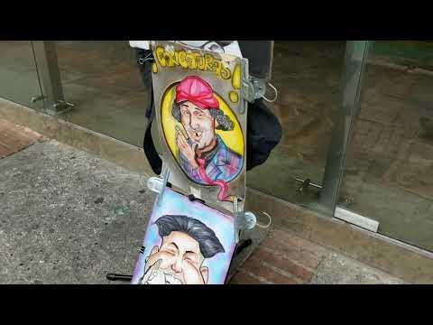 Street artists in Bogota Colombia October 17, 2017