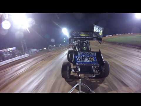 Bloomington Speedway Indiana RaceSaver Feature Sprint Car Series Perrott45 Racing 8/19/2016