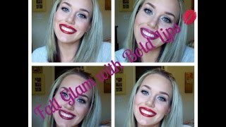 Tutorial: Fall Glam with Bold Lips! 💋💄 Thumbnail