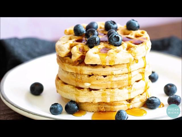 EASY VEGAN WAFFLES - 1 Bowl | Vegan Richa Recipes