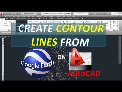Create contour lines from Google Earth on AutoCAD - (Free - Open Source)
